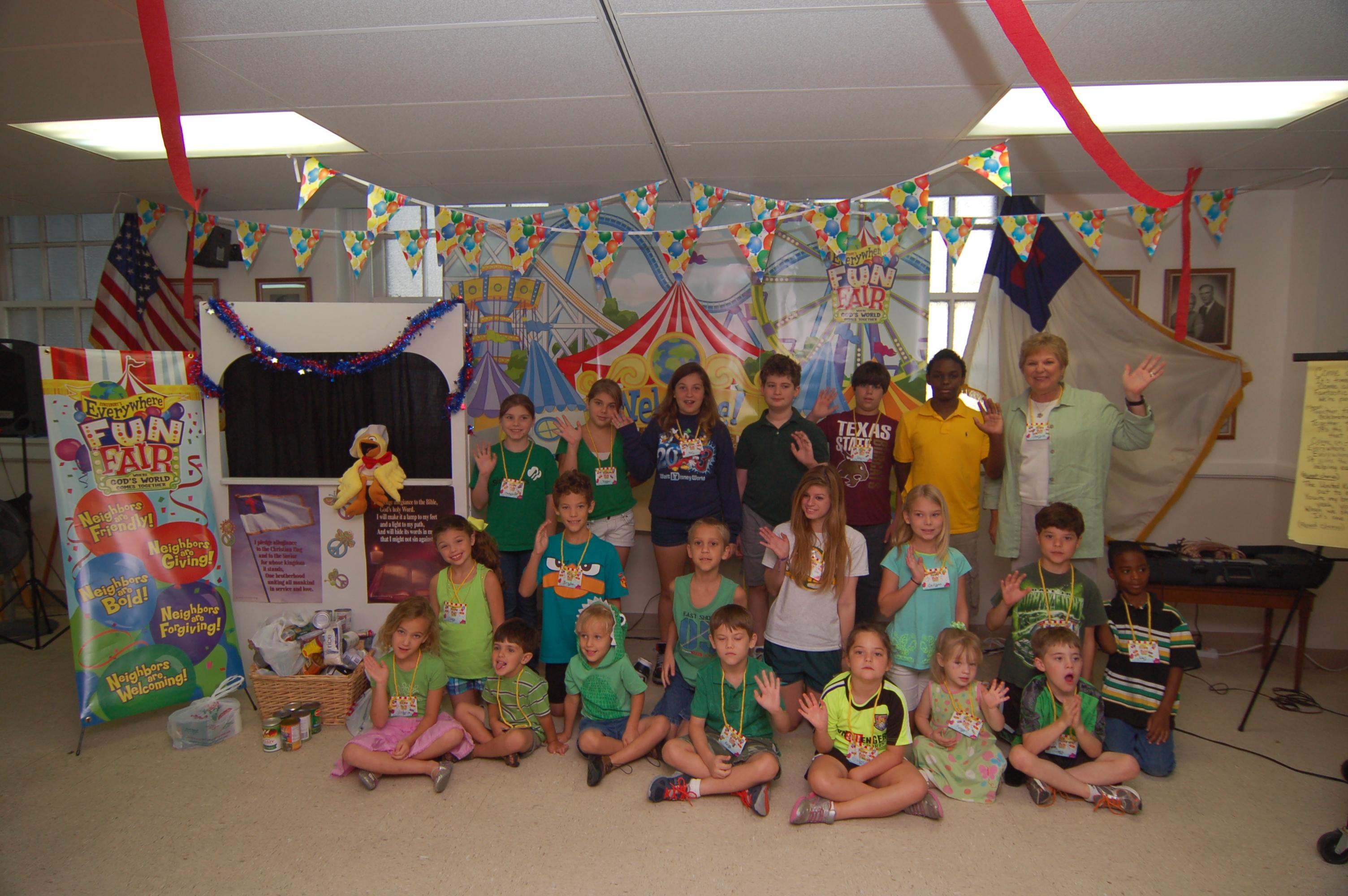 Vacation Bible School Last Days Group Photo